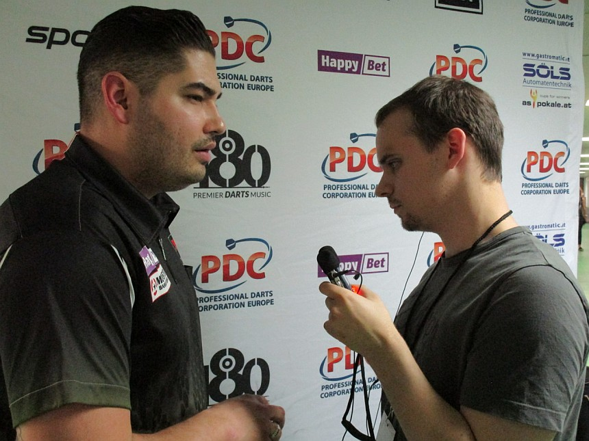 Interview Jelle Klaasen European Darts Grand Prix 2017