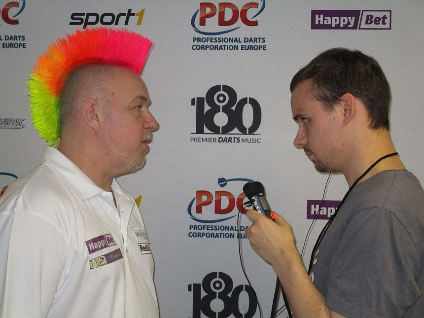 Interview Peter Wright European Darts Grand Prix 2017