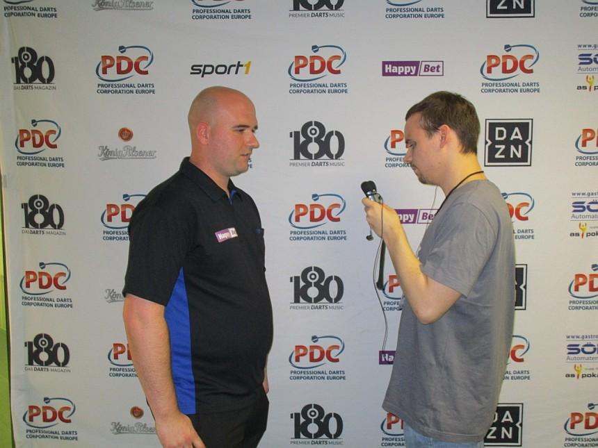 Interview Rob Cross European Darts Grand Prix 2017