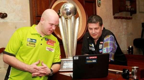 Michael van Gerwen und Gary Anderson - Auslosung PDC Dart WM 2016
