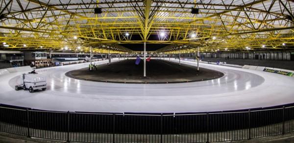 Die Eissporthalle in Assen vor dem Umbau