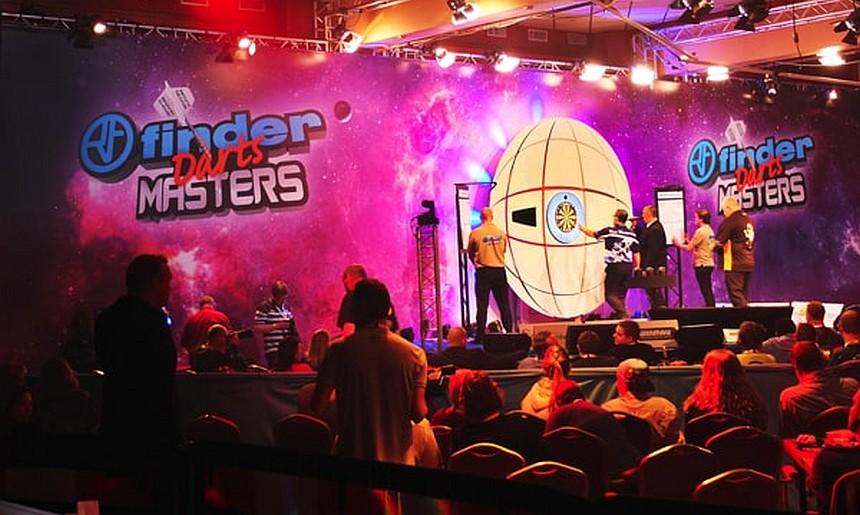 Die Bühne des Finder Darts Masters - Egmond aan Zee