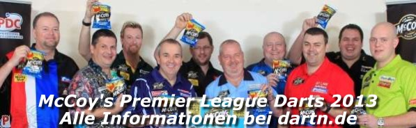 Premier League Darts 2013 - Alle Informationen bei dartn.de
