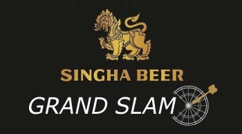 Das neue Logo des Singha Beer Grand Slam of Darts 2014