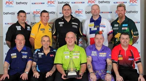 Die Teilnehmer der Premier League Darts 2014