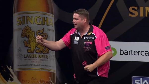 Scott Mitchell mit der Leistung des 1. Abends - Grand Slam of Darts 2016