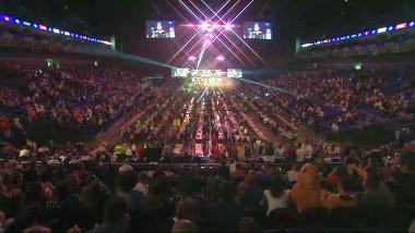 Das Publikum im O2 in London - Finale Premier League Darts 2016