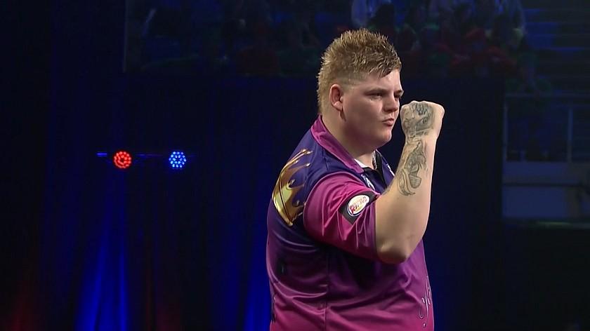 Corey Cadby im Halbfinale - Auckland Darts Masters 2017 - Tag 1