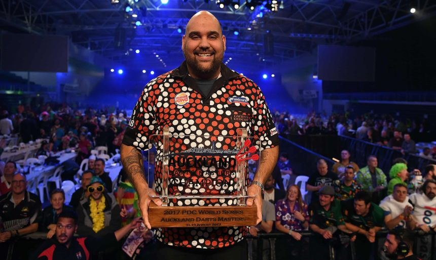 Kyle Anderson am Finaltag der Auckland Darts Masters 2017