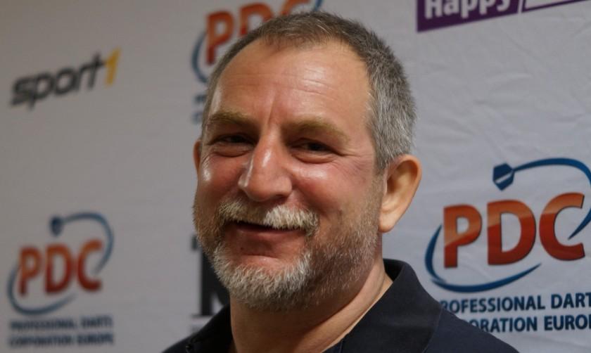 Bernd Roith im dartn.de Interview mit Kevin Barth - German Darts Open 2017 Saarbrücken