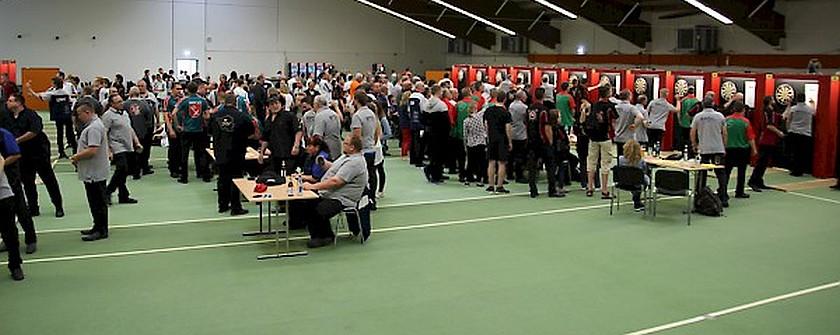 Die Halle für die German Masters 2017 in Kirchheim
