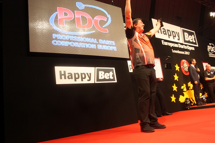 European Darts Open 2017 Finalsession Mensur Suljovic