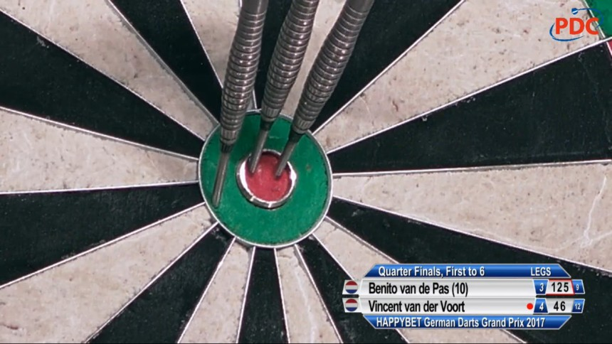Brilliantes 125er Finish von Benito van de Pas - German Darts Grand Prix 2017