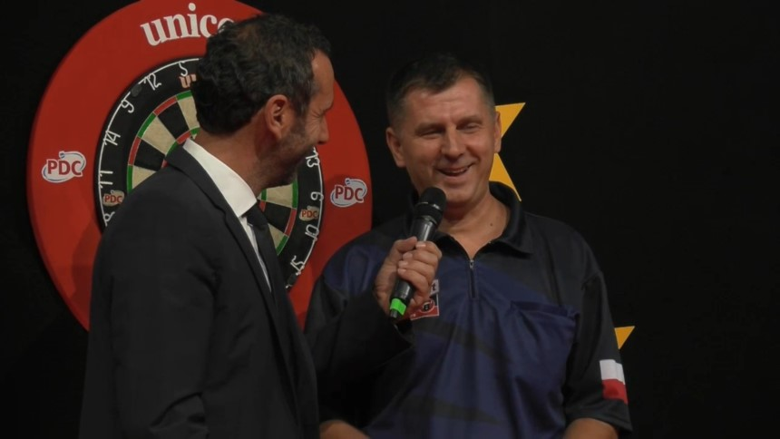 Krzysztof Ratajski im Siegerinterview - German Darts Grand Prix 2017 - Tag 1