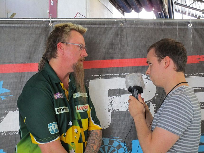 Interview German Darts Grand Prix 2017 - Simon Whitlock