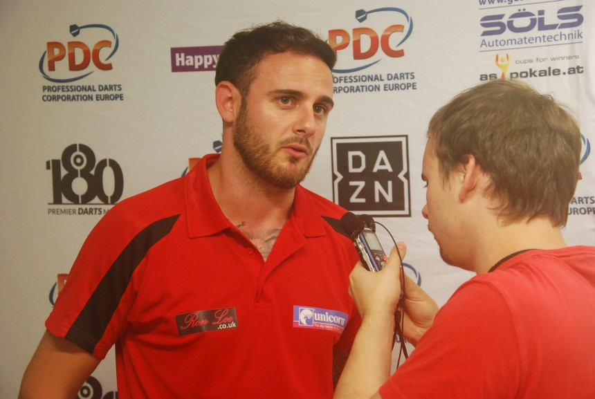 Joe Cullen bei den Austrian Darts Open 2017 in Wien