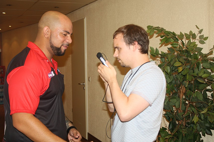European Darts Open 2017 Interview Devon Petersen