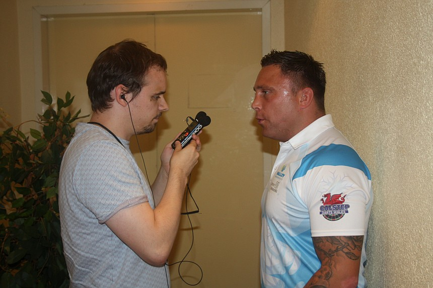 European Darts Open 2017 Interview Gerwyn Price