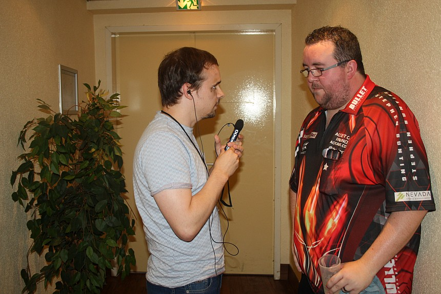 European Darts Open 2017 Interview Stephen Bunting