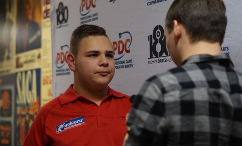Nico Blum im dartn.de Interview mit Kevin Barth - German Darts Open 2017 Saarbrücken