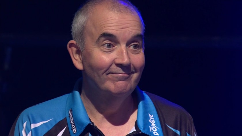 Phil Taylor war recht relaxed auf der Bühne - Finale World Matchplay 2017