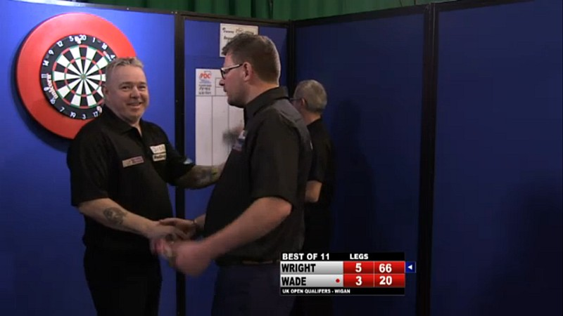 Peter Wright gewinnt den PDC Pro Tour UK Open Qualifier Tag 6