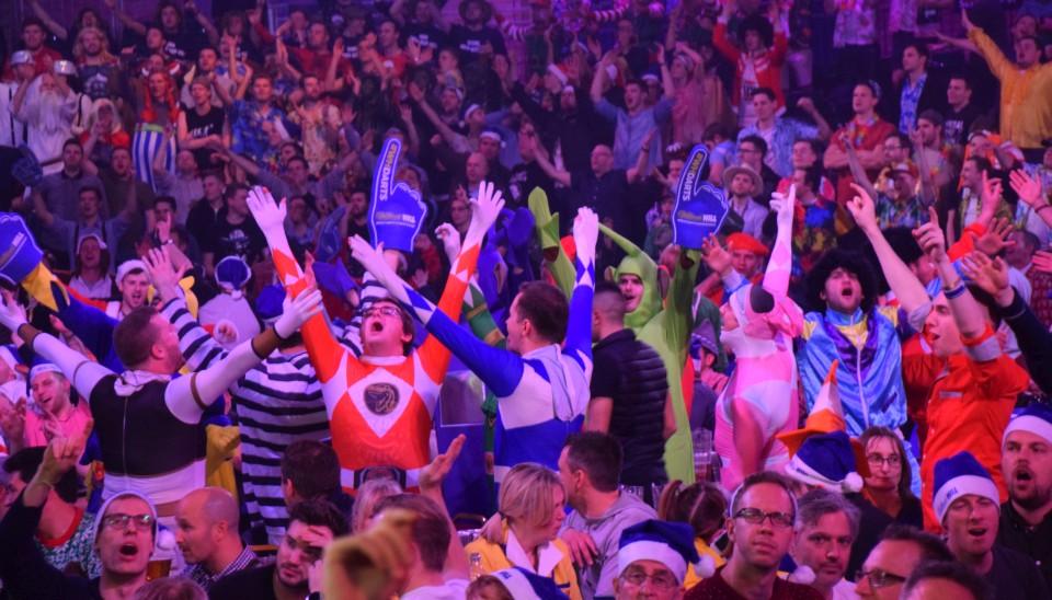Die Dart Fans sind im Ally Pally im 7. Himmel