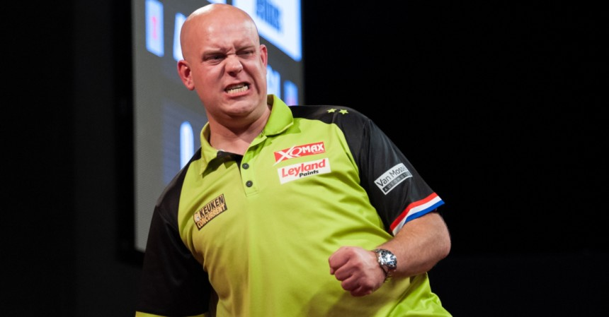 Michael van Gerwen bei den Dutch Darts Masters in Zwolle 2018