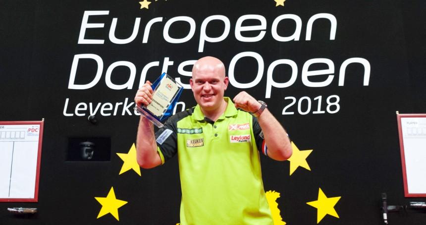 Michael van Gerwen gewinnt die European Darts Open 2018