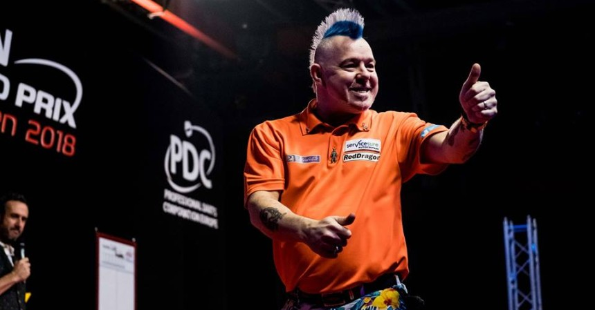 Peter Wright beim German Darts Grand Prix 2018 in München