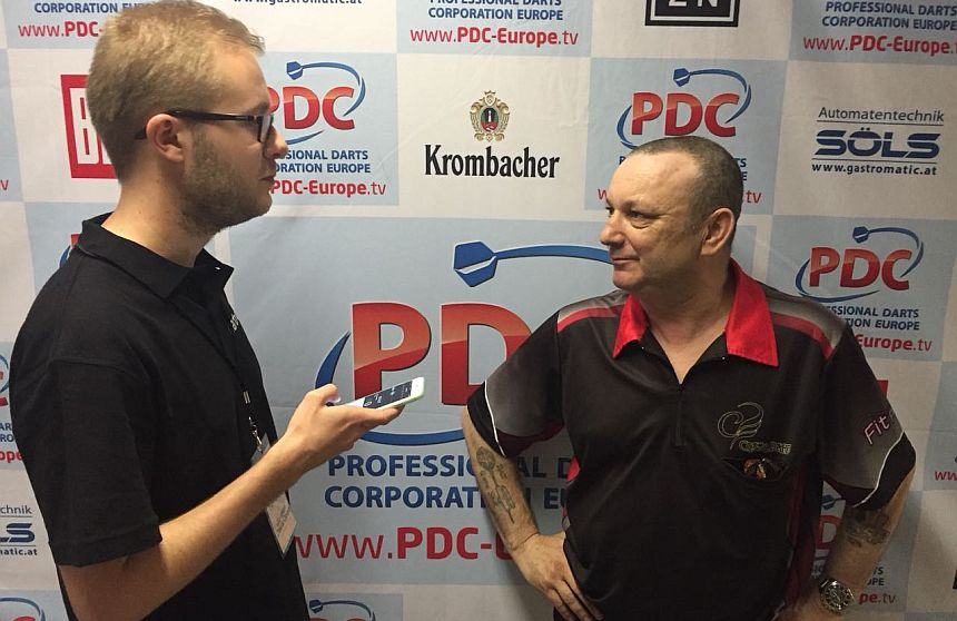 German Darts Open 2018 - Interview - Darren Webster