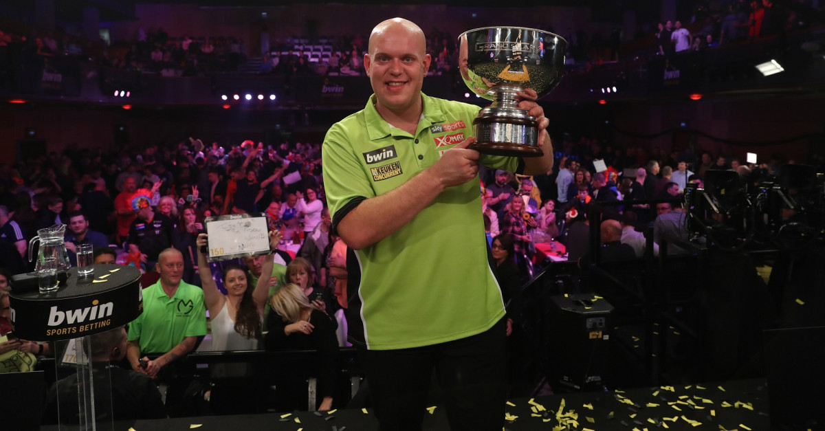 Michael van Gerwen beim Grand Slam of Darts