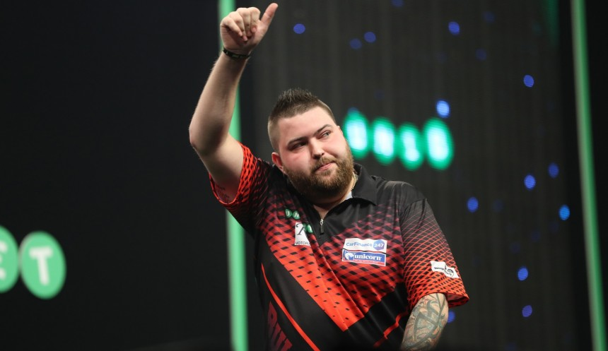 Michael Smith bei der PDC Premier League Darts 2018