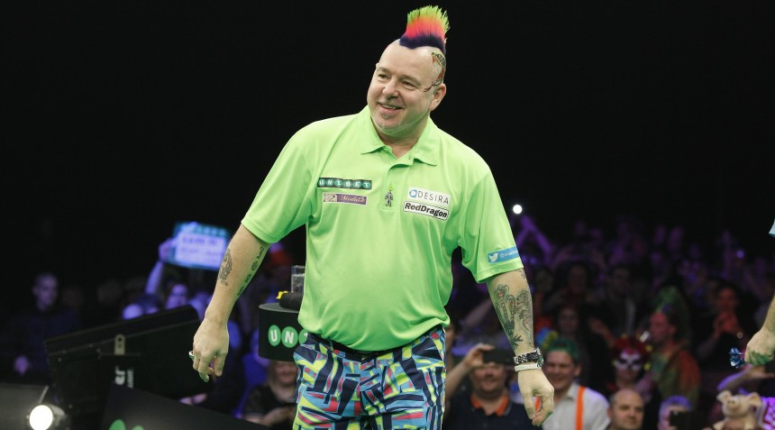 Peter Wright bei der PDC Premier League Darts 2018