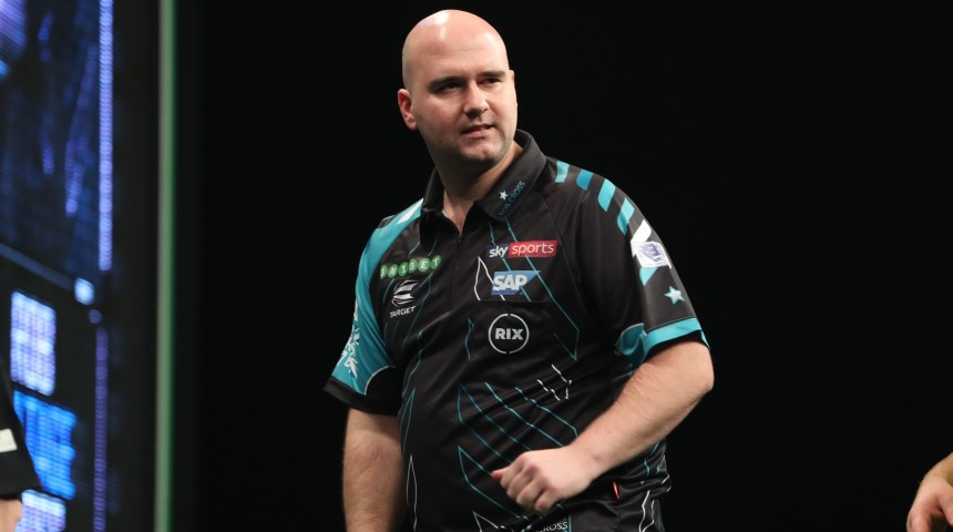Rob Cross bei der PDC Premier League Darts 2018