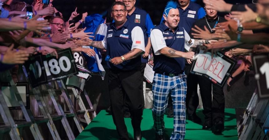 Gary Anderson und Peter Wright für Schottland beim World Cup of Darts 2018