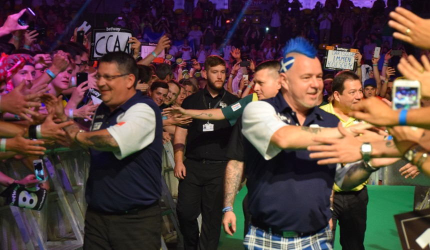 Team Schottland im Achtelfinale des World Cup of Darts 2018 in Frankfurt