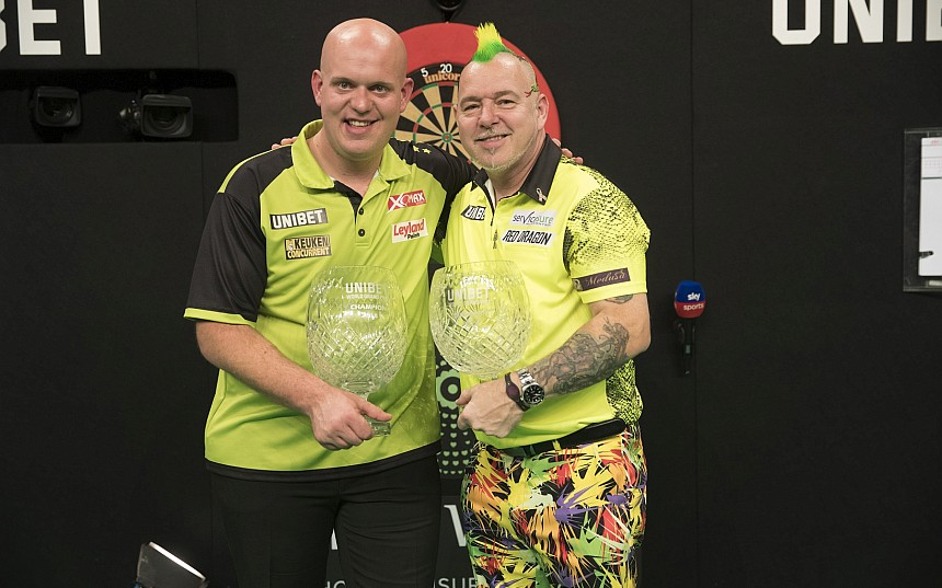 World Grand Prix 2018 - Siegerbild - Michael van Gerwen & Peter Wright