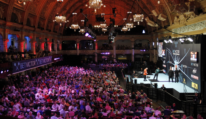 Empress Ballroom der Winter Gardens in Blackpool beim World Matchplay Darts 2018