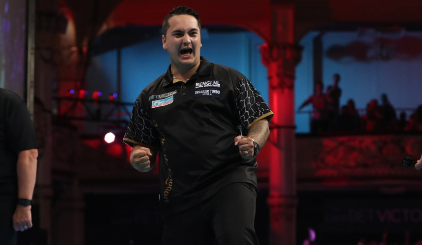 Jeffrey de Zwaan beim PDC World Matchplay Darts 2018 in Blackpool