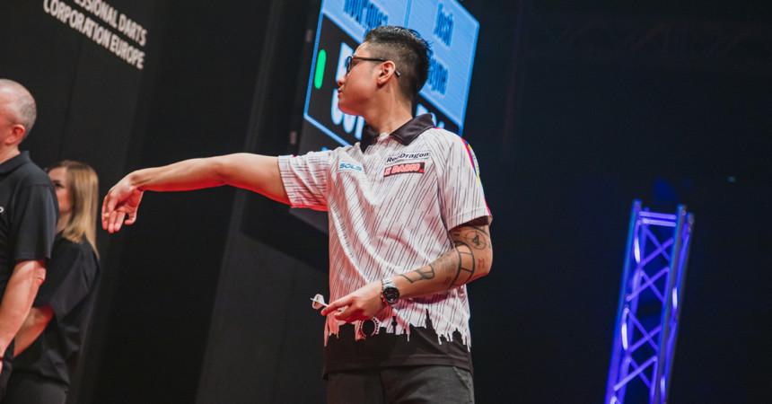 Rowby John Rodriguez bei den Austrian Darts Championship 2019