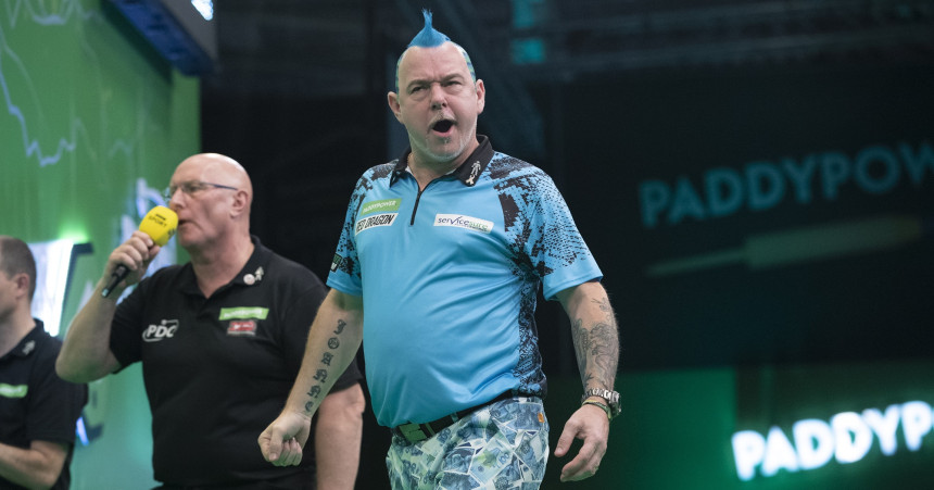 Peter Wright bei der Champions League Darts 2019