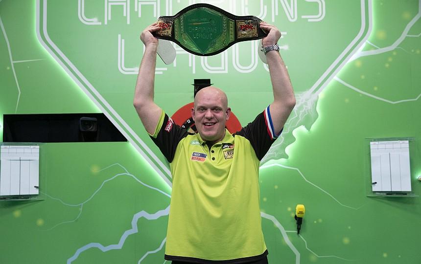 Champions League of Darts 2019 - Siegerbild - Michael van Gerwen