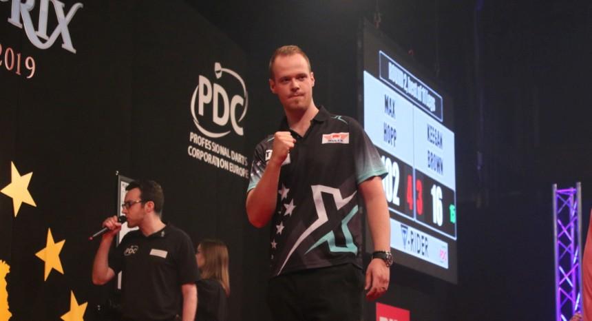 Max Hopp erreicht das Viertelfinale in München 2019