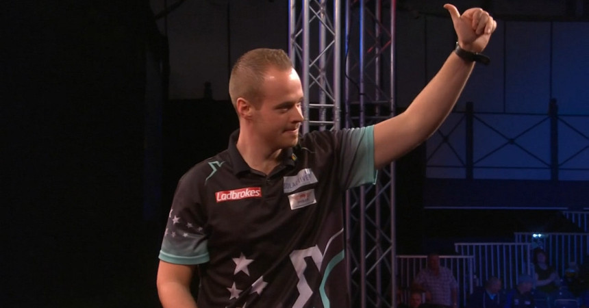 Max Hopp bei den Players Championship Finals in Minehead