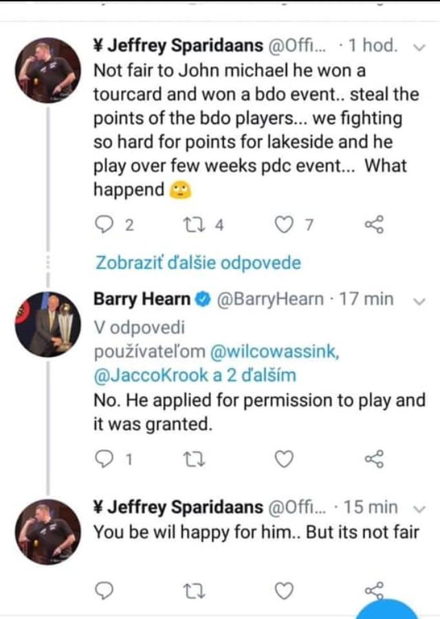 Screenshot Twitter Dialog Sparidaans - Hearn