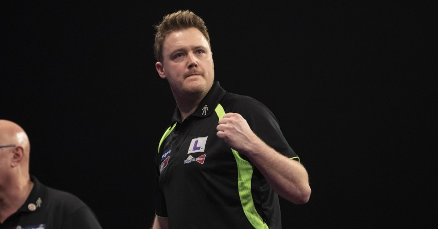 Jim Williams bei der BDO Dart WM 2020
