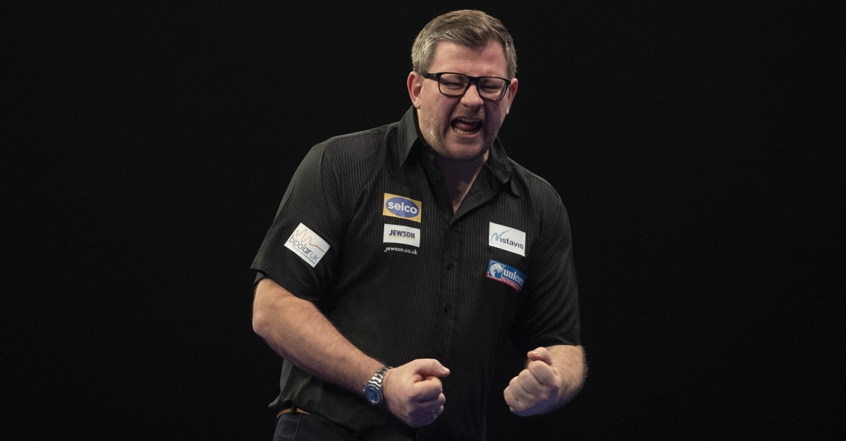 James Wade beim Grand Slam of Darts 2020