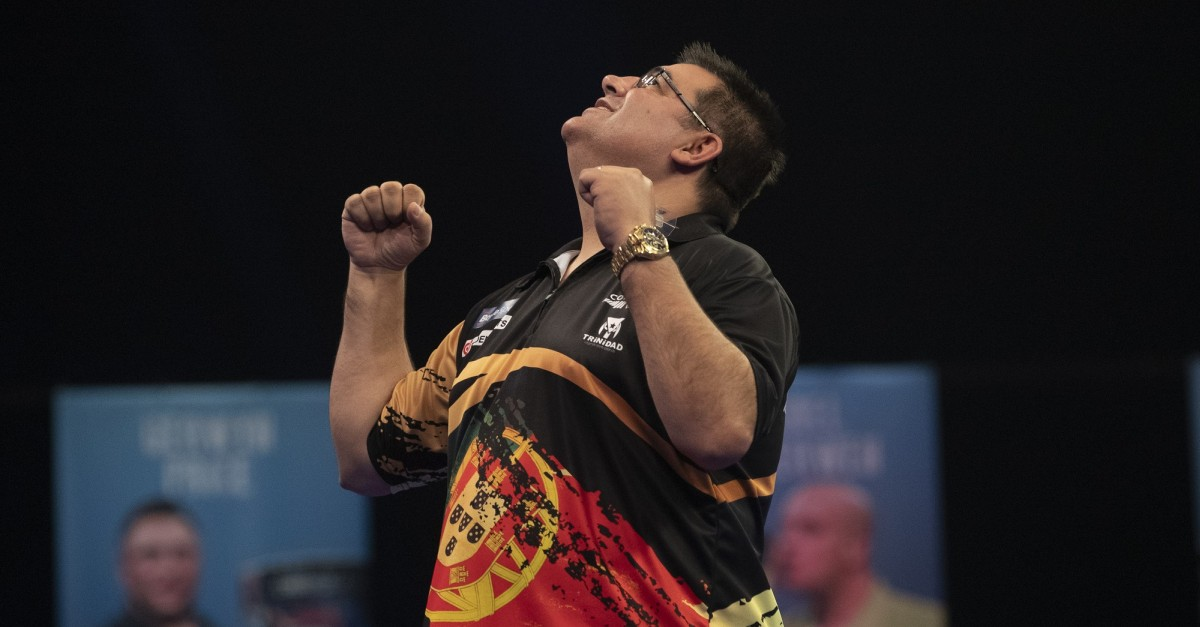 Jose de Sousa beim Grand Slam of Darts 2020