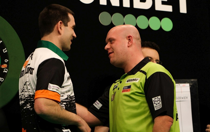 Michael van Gerwen und William O'Connor